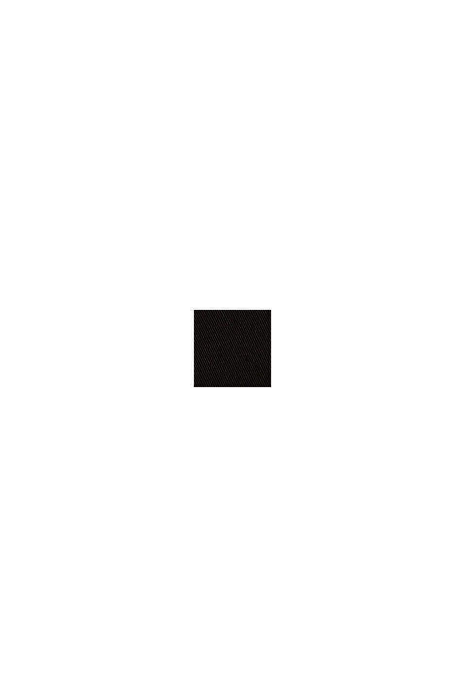 Satinerede bermudashorts med stretch, BLACK, swatch