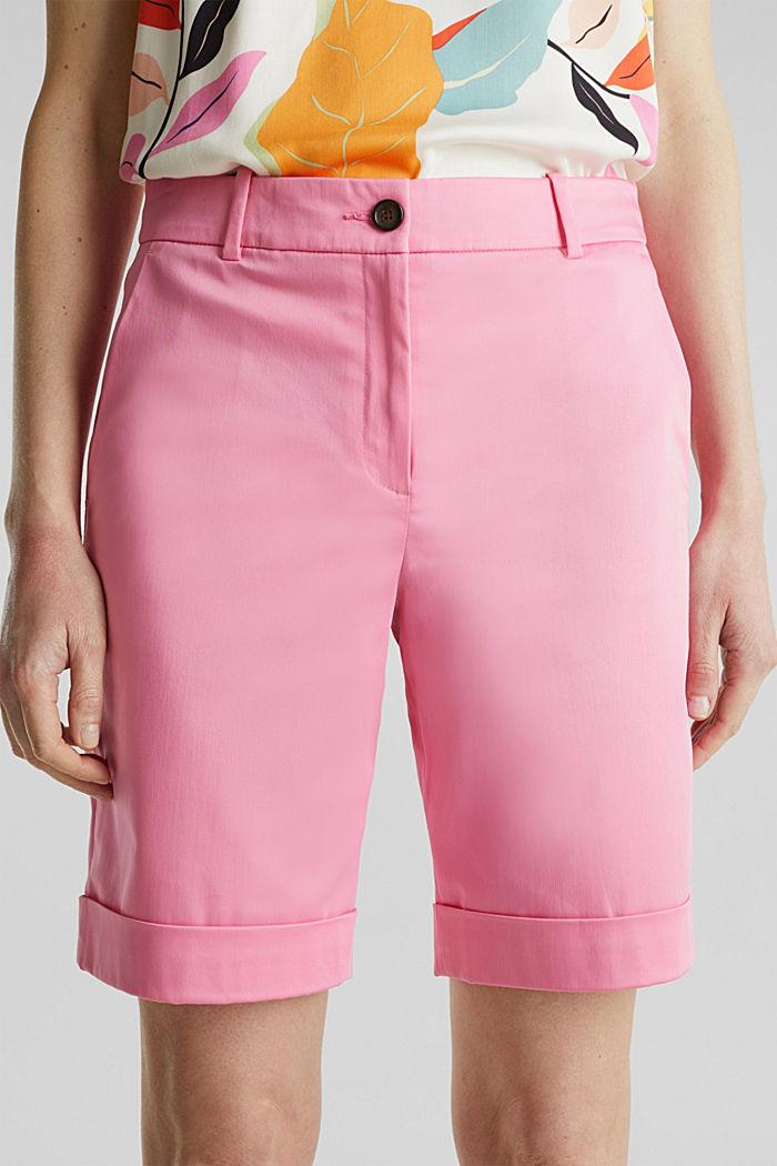 Stretchy satined Bermuda shorts, PINK, detail image number 2