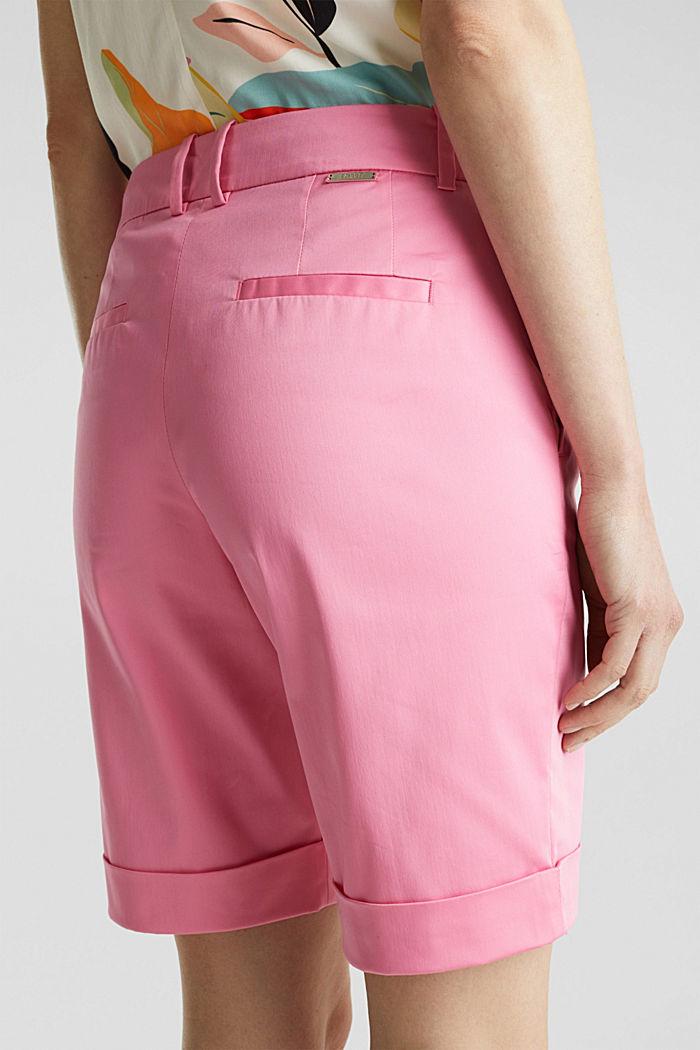 Stretchy satined Bermuda shorts, PINK, detail image number 5