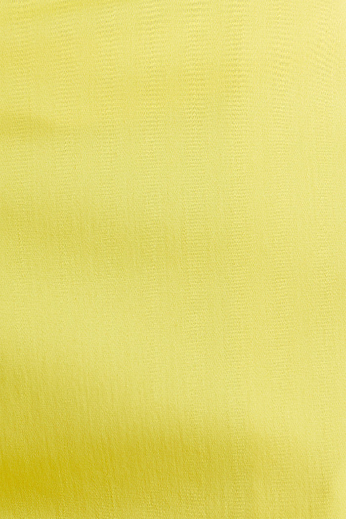 Stretchy satined Bermuda shorts, YELLOW, detail image number 4