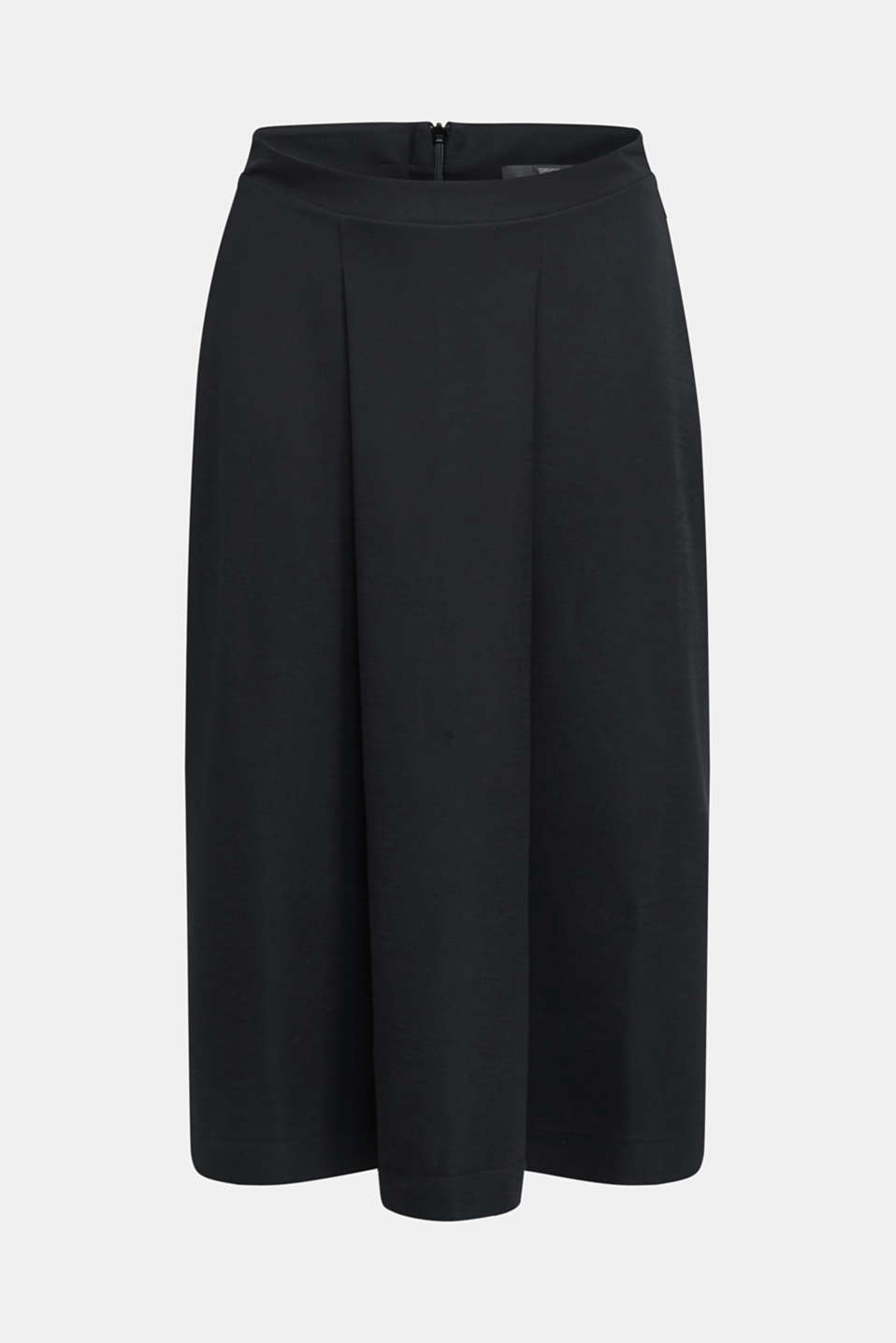 Piqué midi skirt, BLACK, detail image number 6
