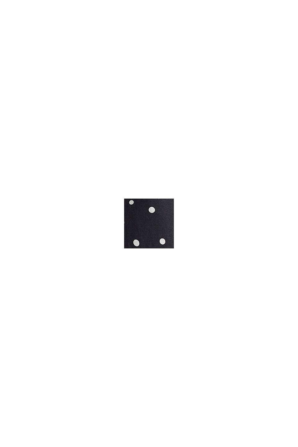 Linnenmix: rokgedeelte in A-lijn, BLACK, swatch