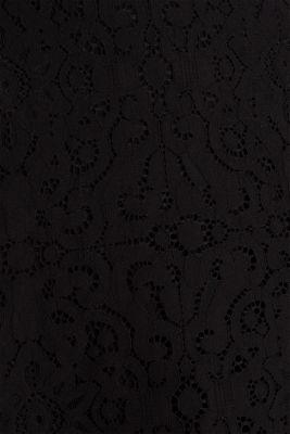 Lace pencil skirt, BLACK, detail