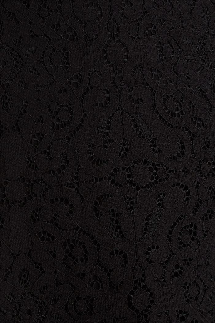Lace pencil skirt, BLACK, detail image number 4