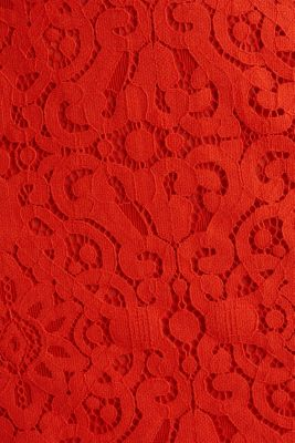 Lace pencil skirt, RED ORANGE, detail