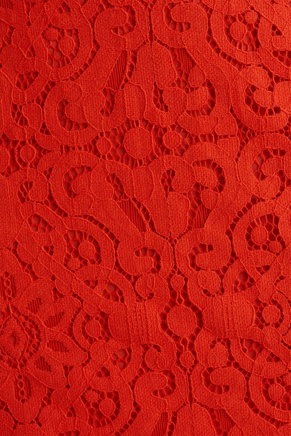 Lace pencil skirt, RED ORANGE, detail image number 4