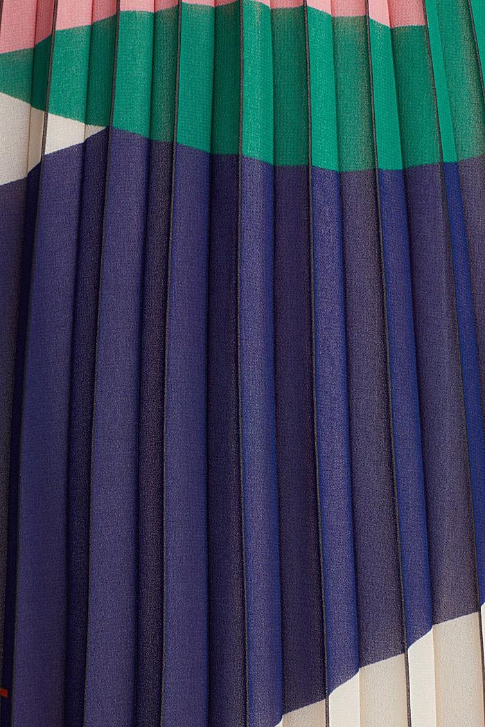 Gerecycled: geplisseerde rok met print, OFF WHITE, detail image number 4
