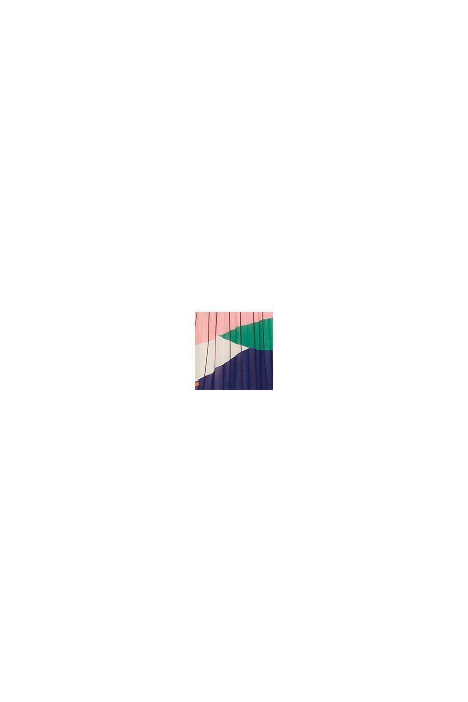 Recycelt: Plissee-Rock mit Print, OFF WHITE, swatch