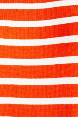 Stretch jersey dress with mixed stripes, RED ORANGE, detail