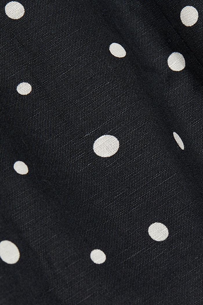 Robe fourreau en lin mélangé, BLACK, detail image number 4