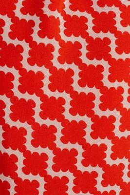 Printed chiffon shirt dress, RED ORANGE 4, detail