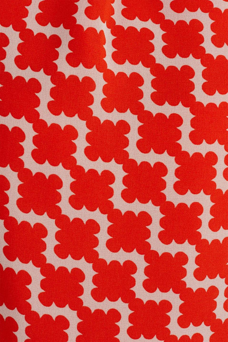 Printed chiffon shirt dress, RED ORANGE 4, detail image number 4