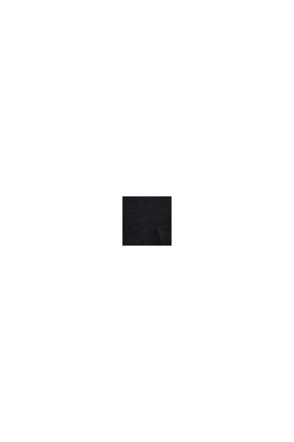 En lin: la robe d'aspect cache-cœur, BLACK, swatch