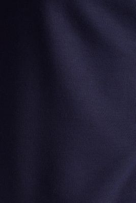Punto jersey dress with a belt, NAVY, detail