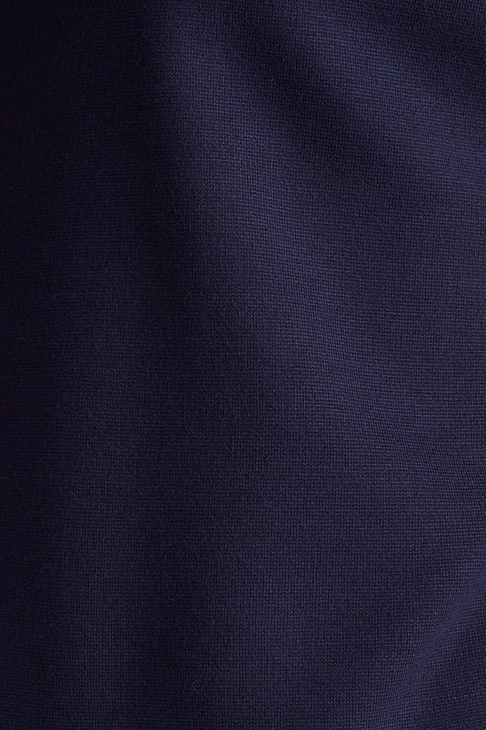 Punto jersey dress with a belt, NAVY, detail image number 4