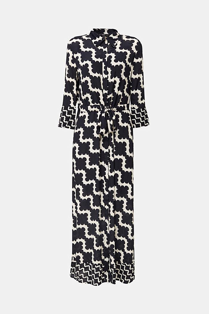 Crêpe-Kleid mit Taillen-Tunnelzug