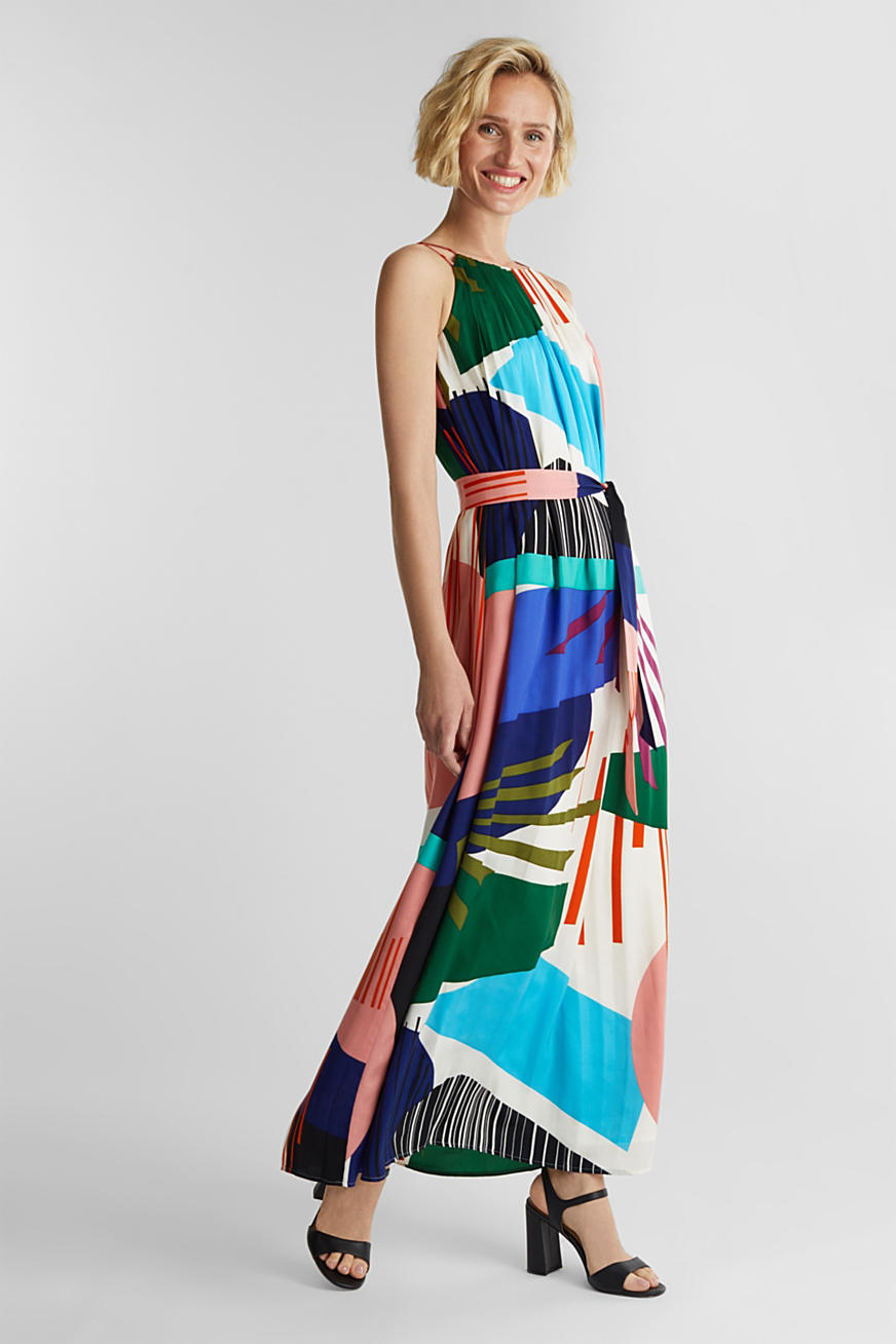 Maxikleid mit Graphic-Print