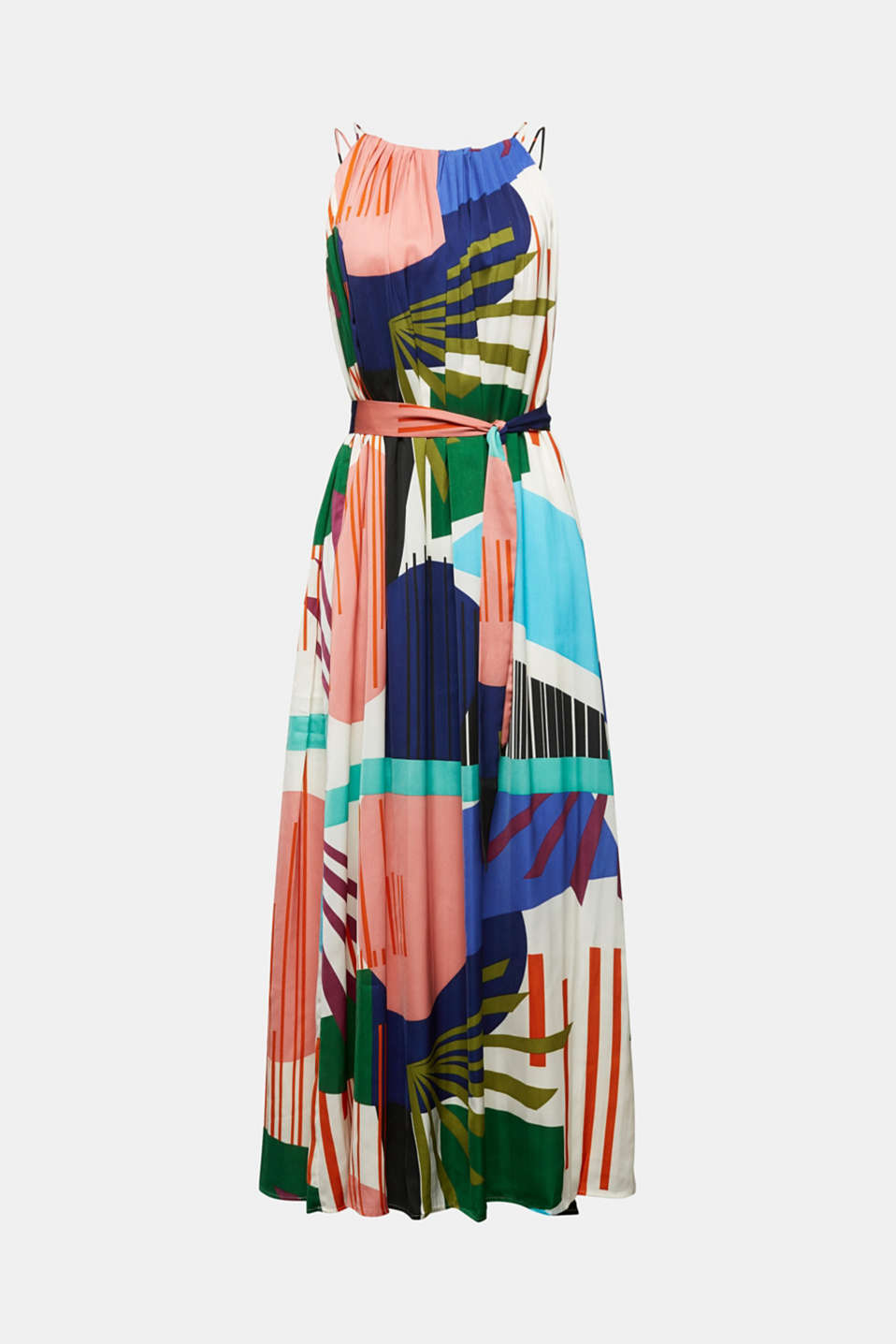 Maxi dress with a geometric print, OFF WHITE 4, detail image number 6