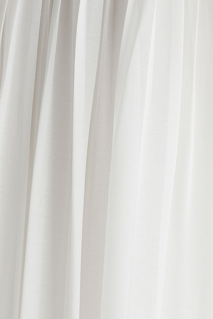 Recycled: pleated chiffon maxi dress, OFF WHITE, detail image number 4