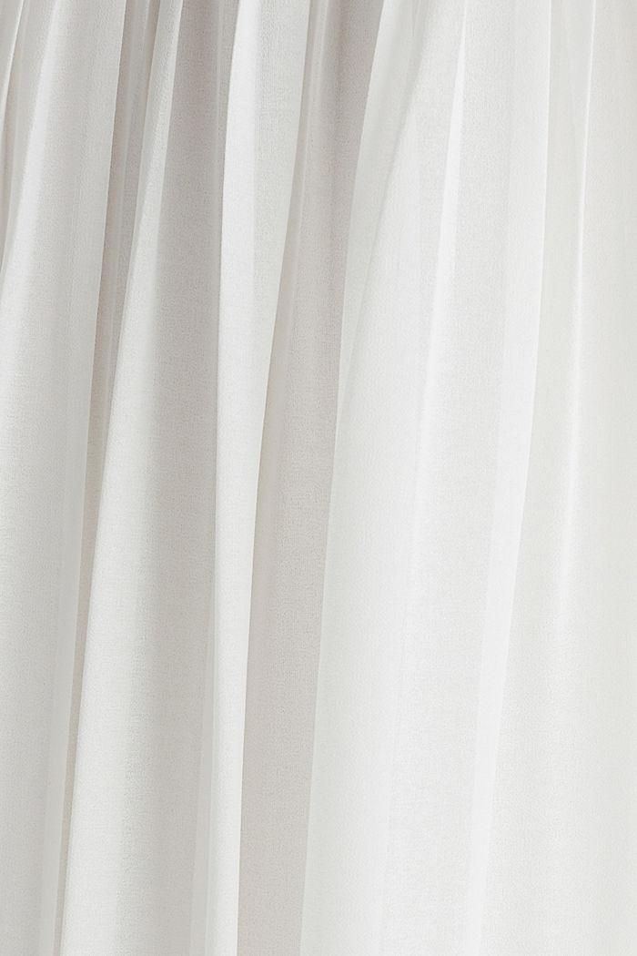 Gerecycled: geplisseerde maxi-jurk van chiffon, OFF WHITE, detail image number 4