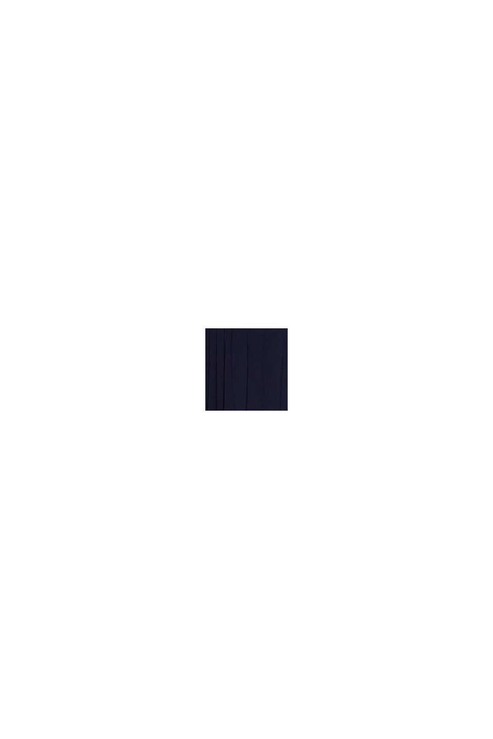 Materiale riciclato: abito maxi plissettato in chiffon, NAVY, swatch