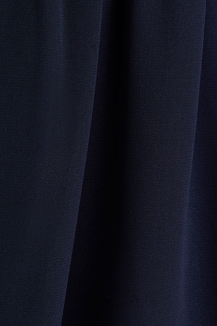 Recycled: chiffon maxi dress, NAVY, detail image number 4