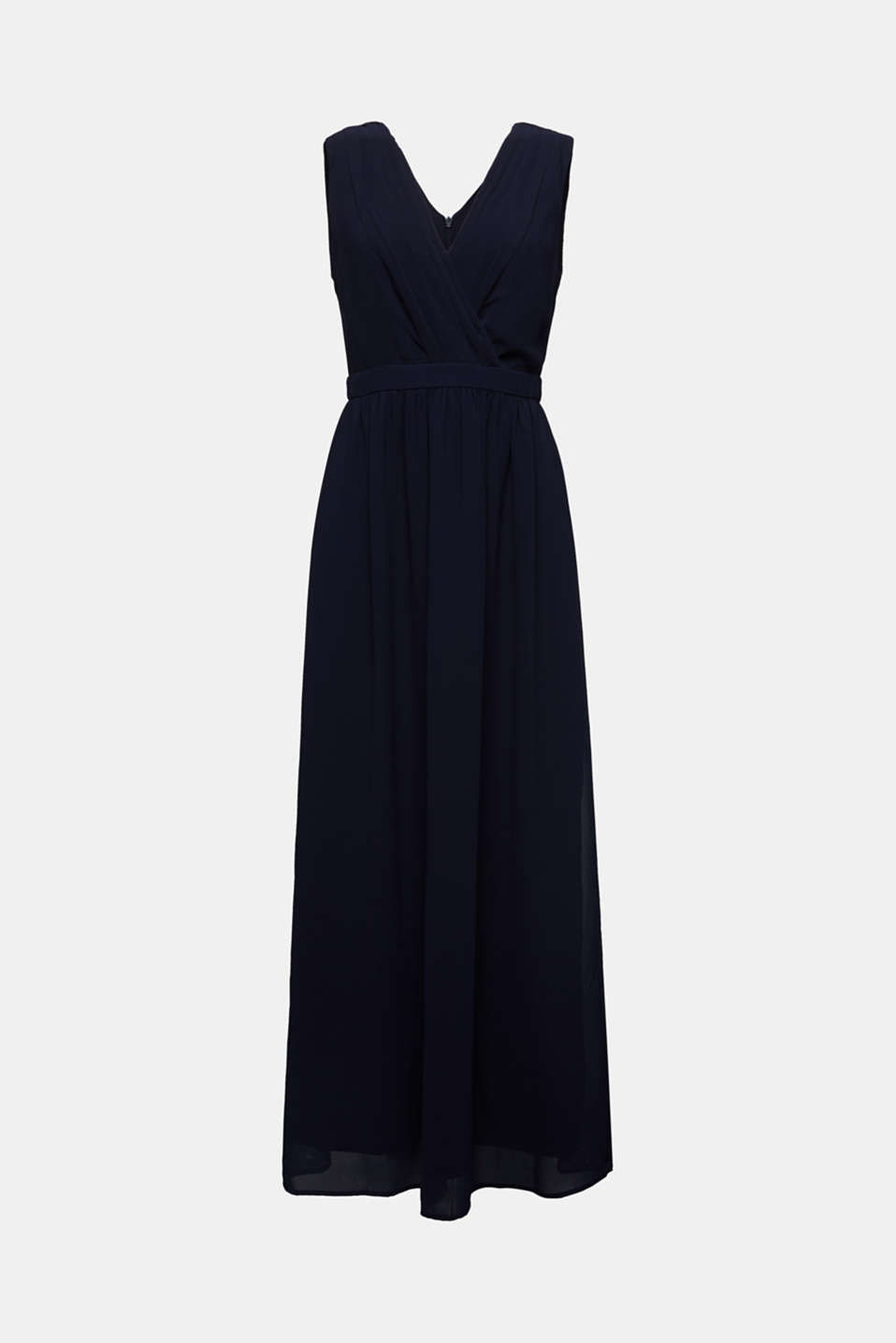 Recycled: chiffon maxi dress, NAVY, detail image number 5