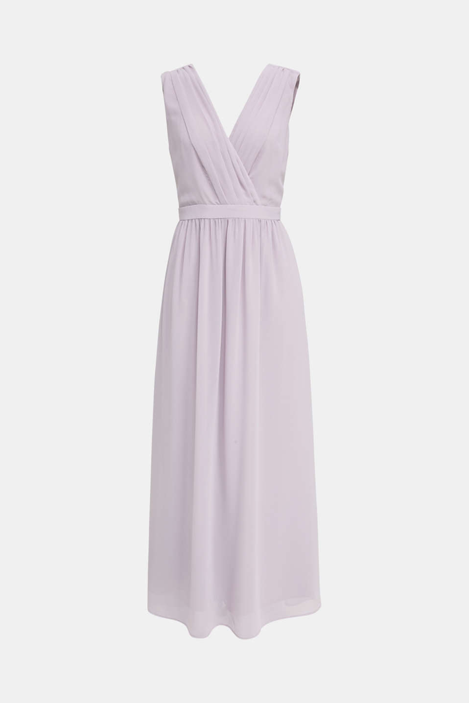Recycled: chiffon maxi dress, MAUVE, detail image number 4