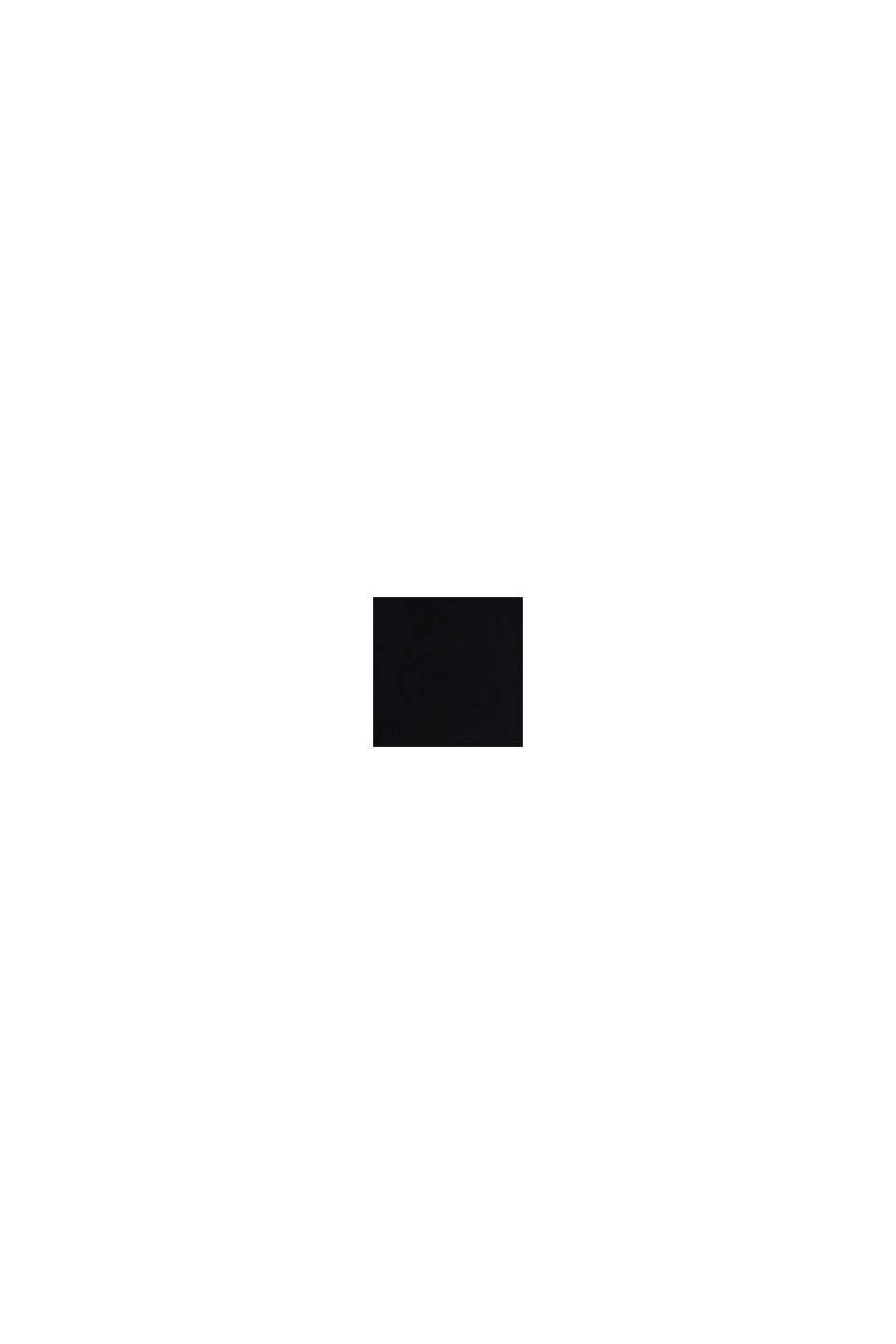 Recycelt: Kleid mit Spitzen-Rücken, BLACK, swatch
