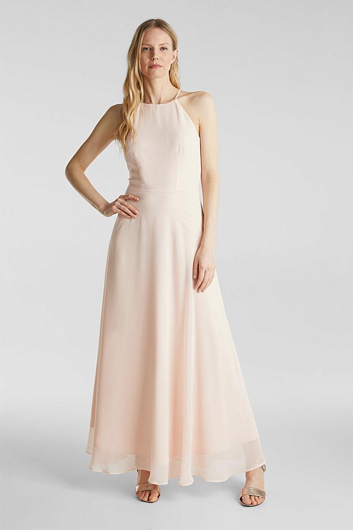 Reciclado: vestido con espalda de encaje, PASTEL PINK, detail image number 0