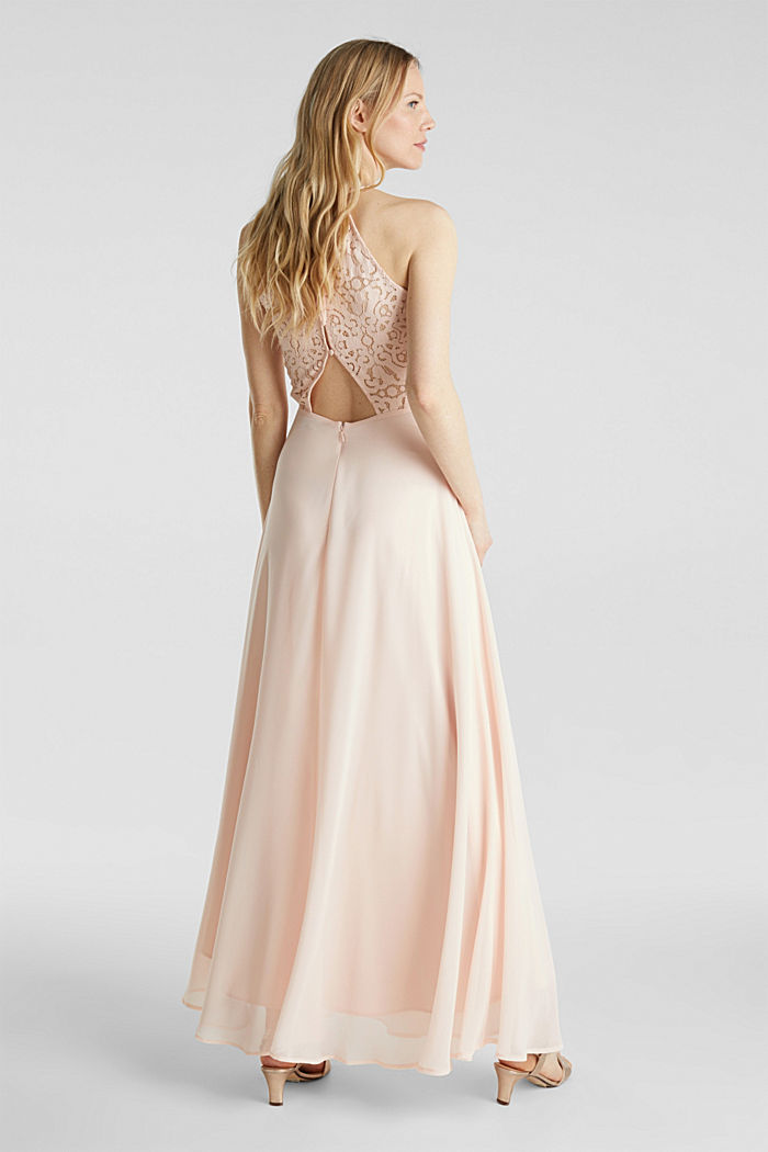 Recycled: dress with lace back, PASTEL PINK, detail image number 2