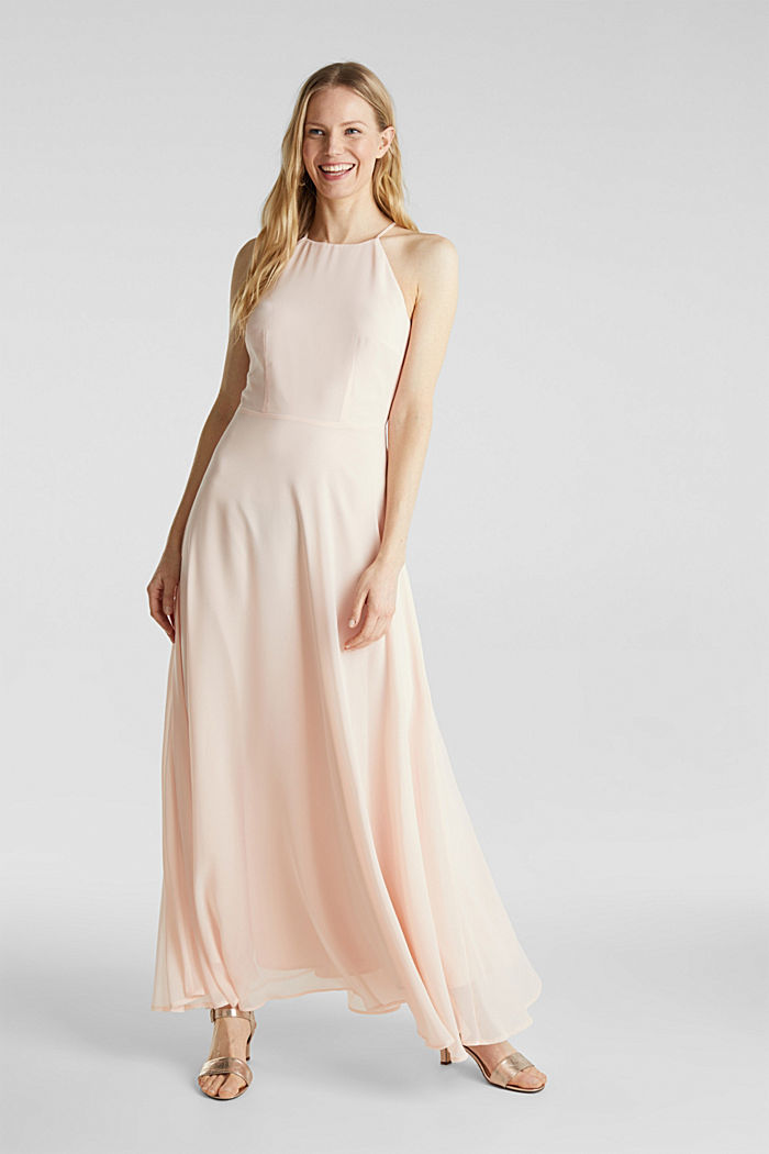 Recycled: dress with lace back, PASTEL PINK, detail image number 1