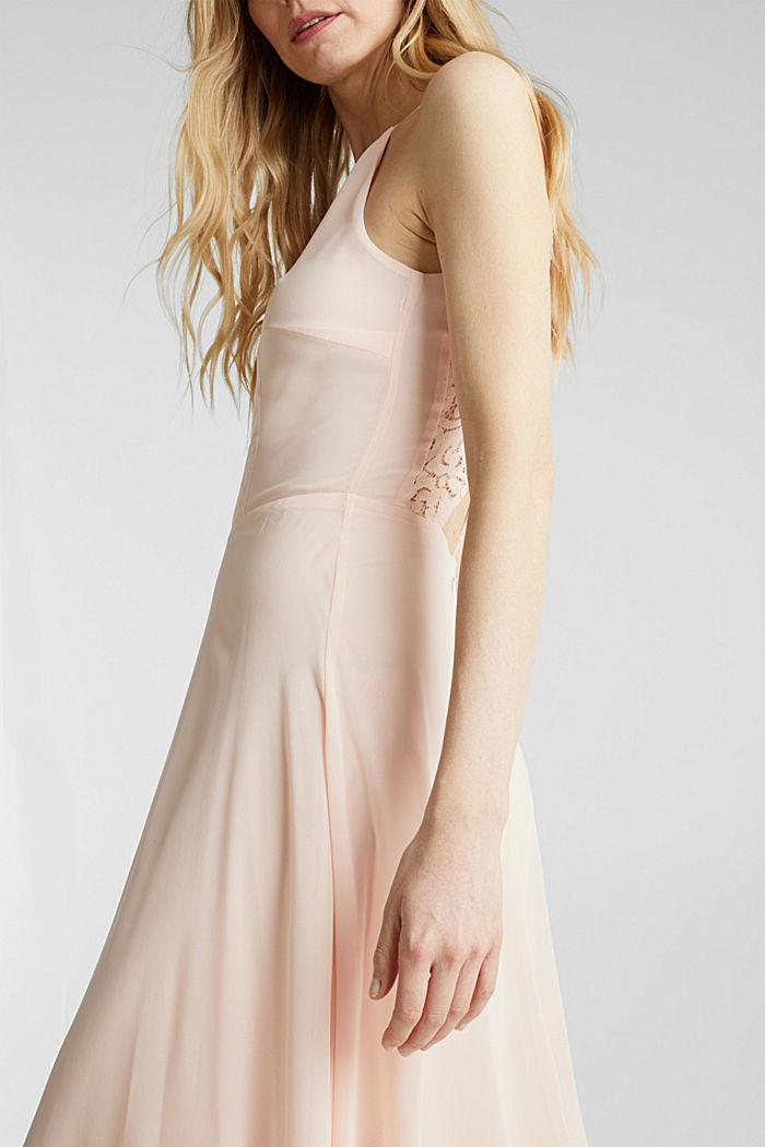Recycled: dress with lace back, PASTEL PINK, detail image number 3