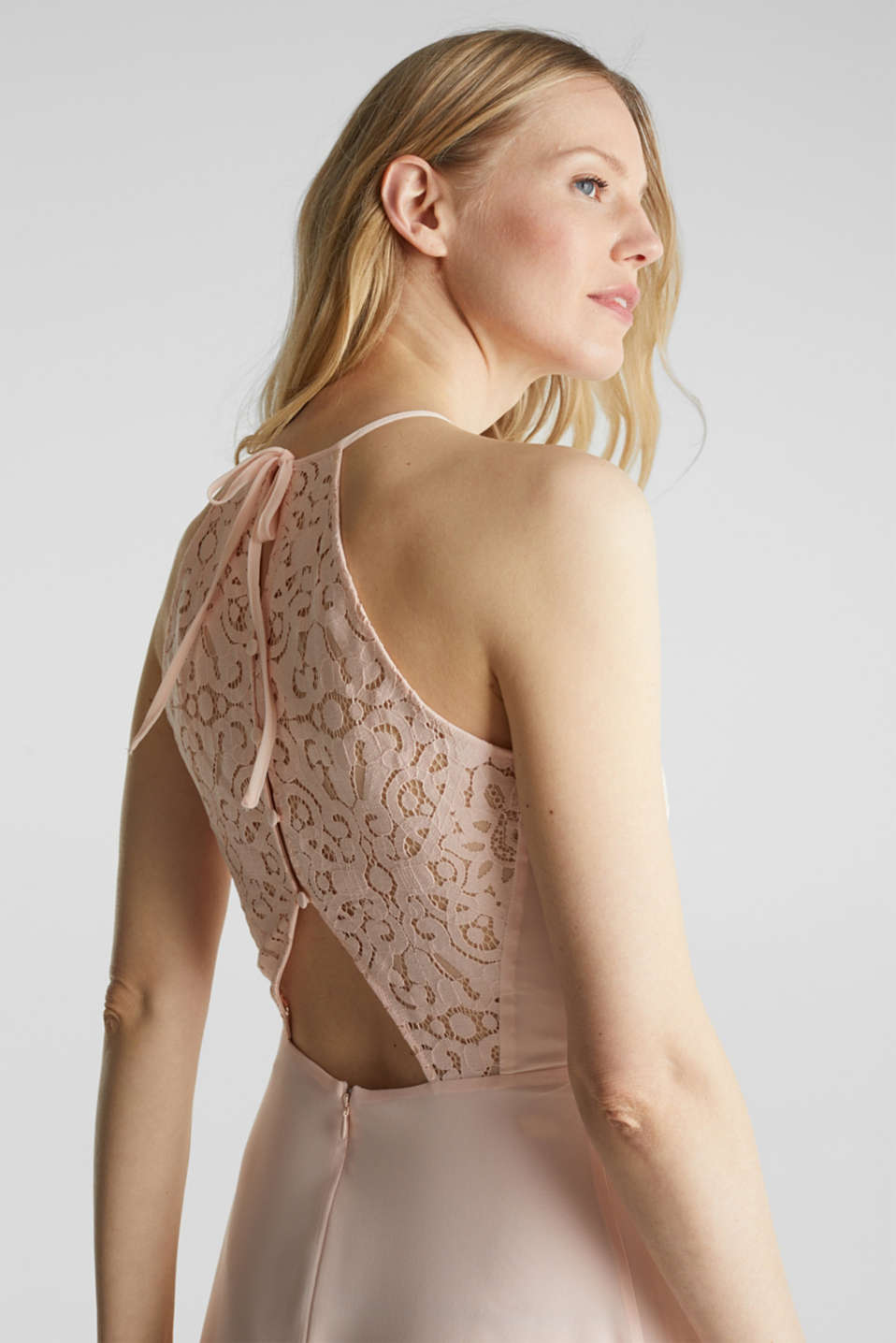 Recycled: dress with lace back, PASTEL PINK, detail image number 6