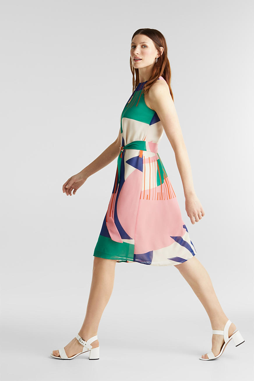 Recycled: Dress with a graphic print