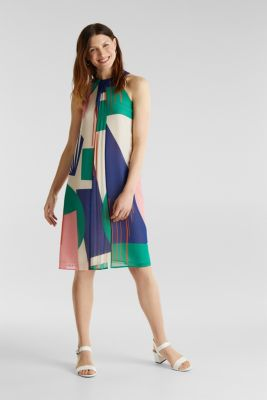 Recycled: Dress with a graphic print, OFF WHITE 4, detail