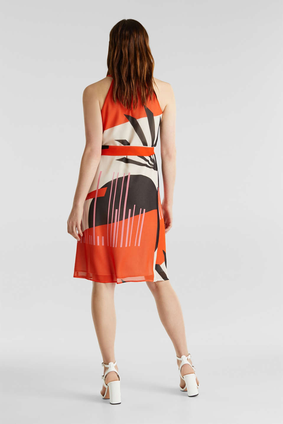 Recycled: Dress with a graphic print, RED ORANGE 4, detail image number 2