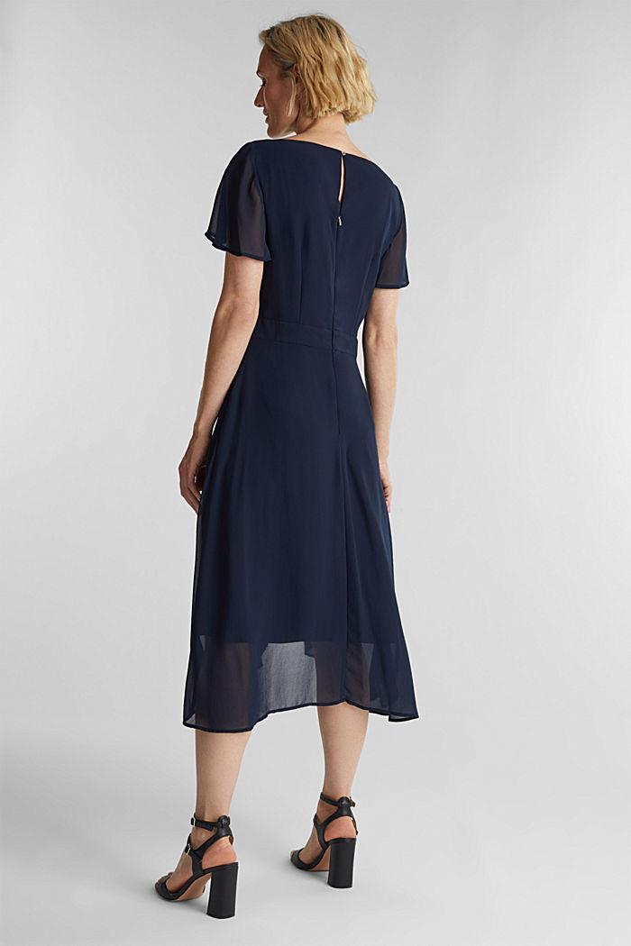 Midi dress in crêpe chiffon, NAVY, detail image number 2