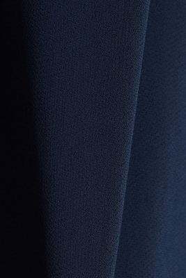 Midi dress in crêpe chiffon, NAVY, detail