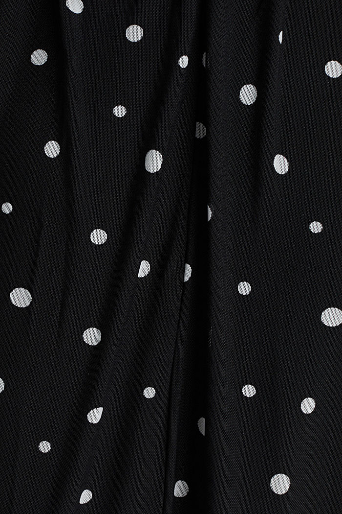 Mesh dress with an all-over print, BLACK, detail image number 3
