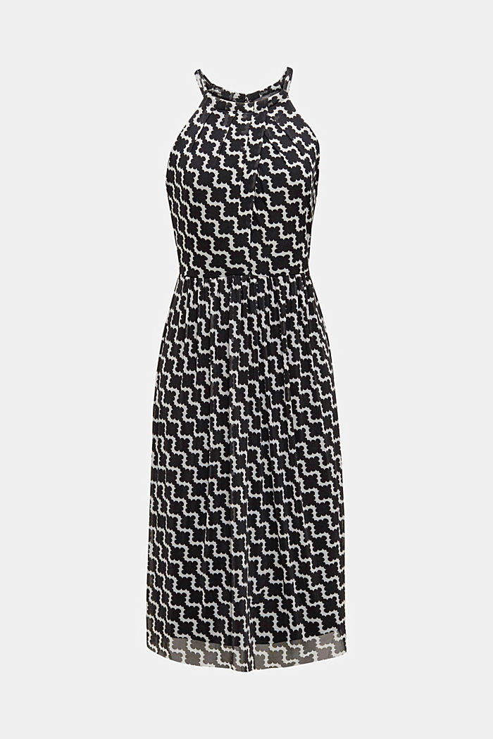 Mesh dress with an all-over print