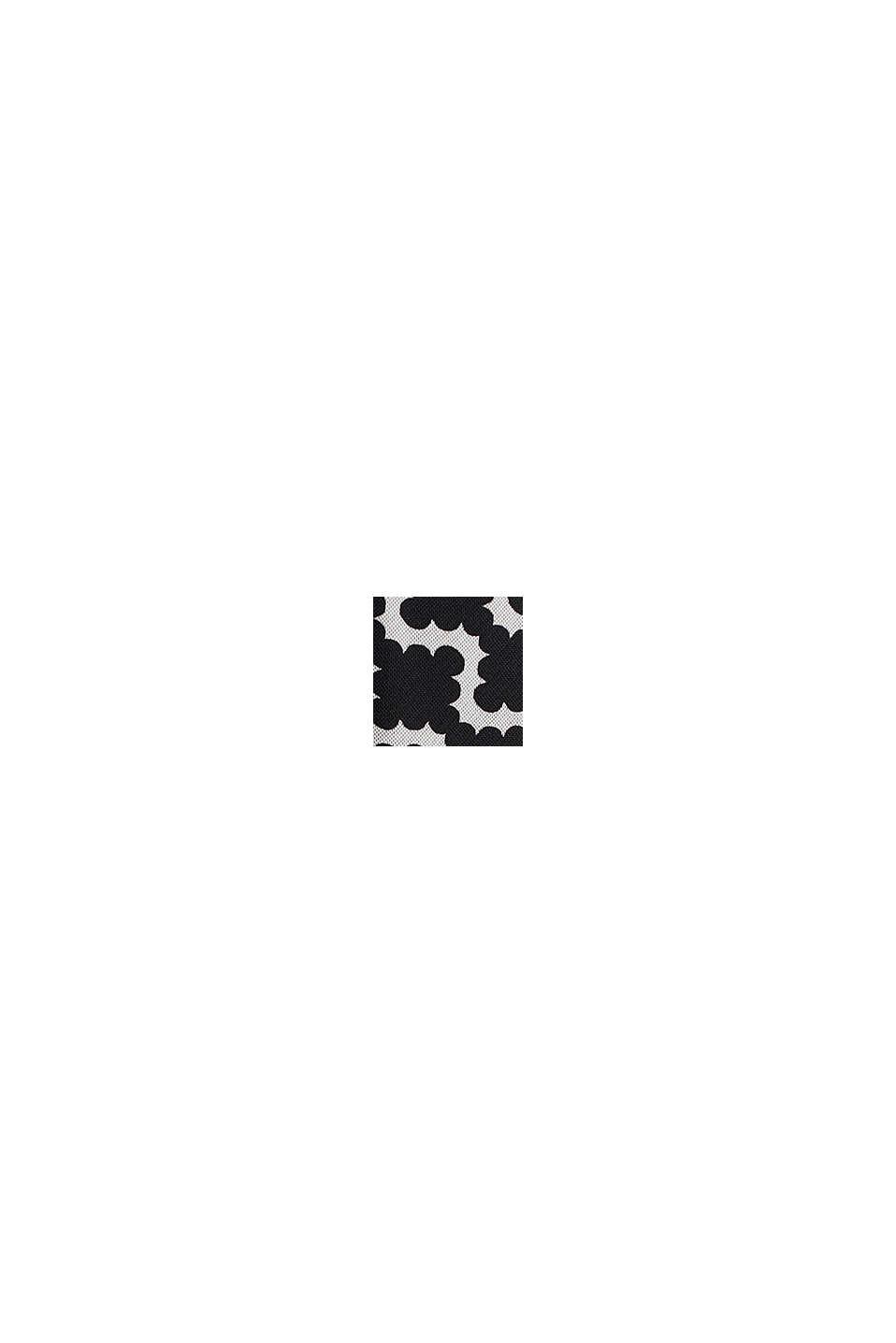 Mesh-Kleid mit Allover-Print, OFF WHITE, swatch
