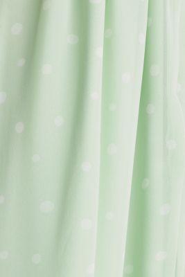 Wrap-over effect chiffon dress, PASTEL GREEN 4, detail
