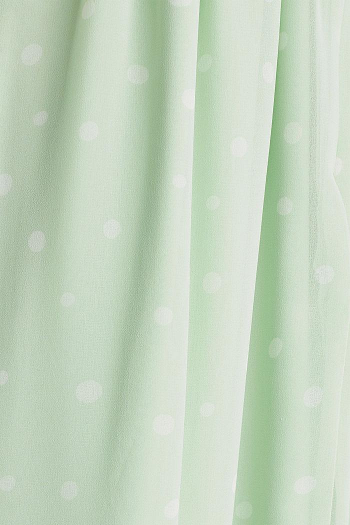 Chiffon jurk met wikkeleffect, PASTEL GREEN, detail image number 3