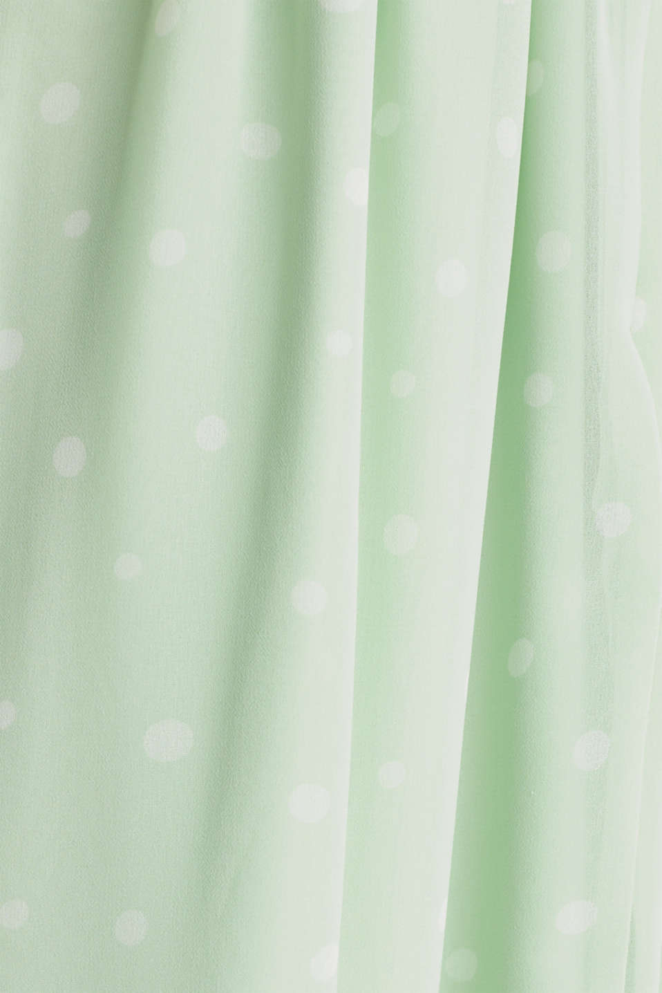 Wrap-over effect chiffon dress, PASTEL GREEN 4, detail image number 3