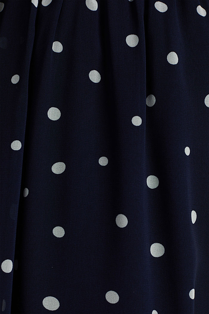 Wrap-over effect chiffon dress, NAVY, detail image number 4