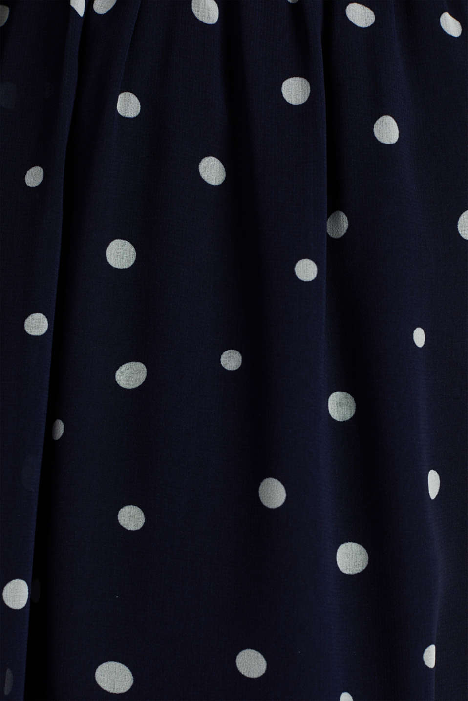 Wrap-over effect chiffon dress, NAVY 4, detail image number 4