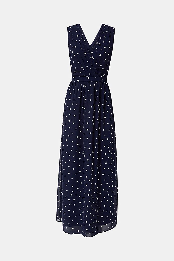Chiffon jurk met wikkeleffect