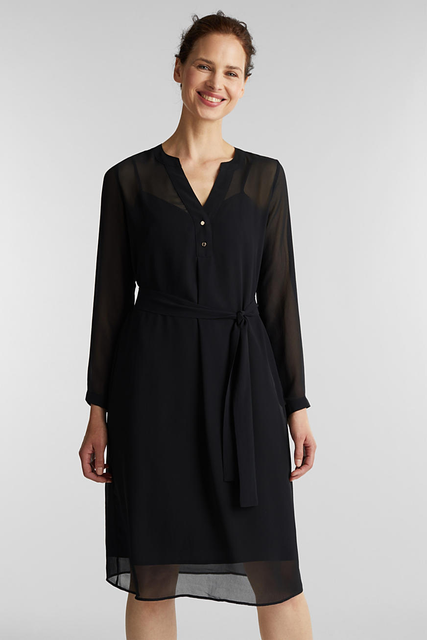 Chiffon shirt dress