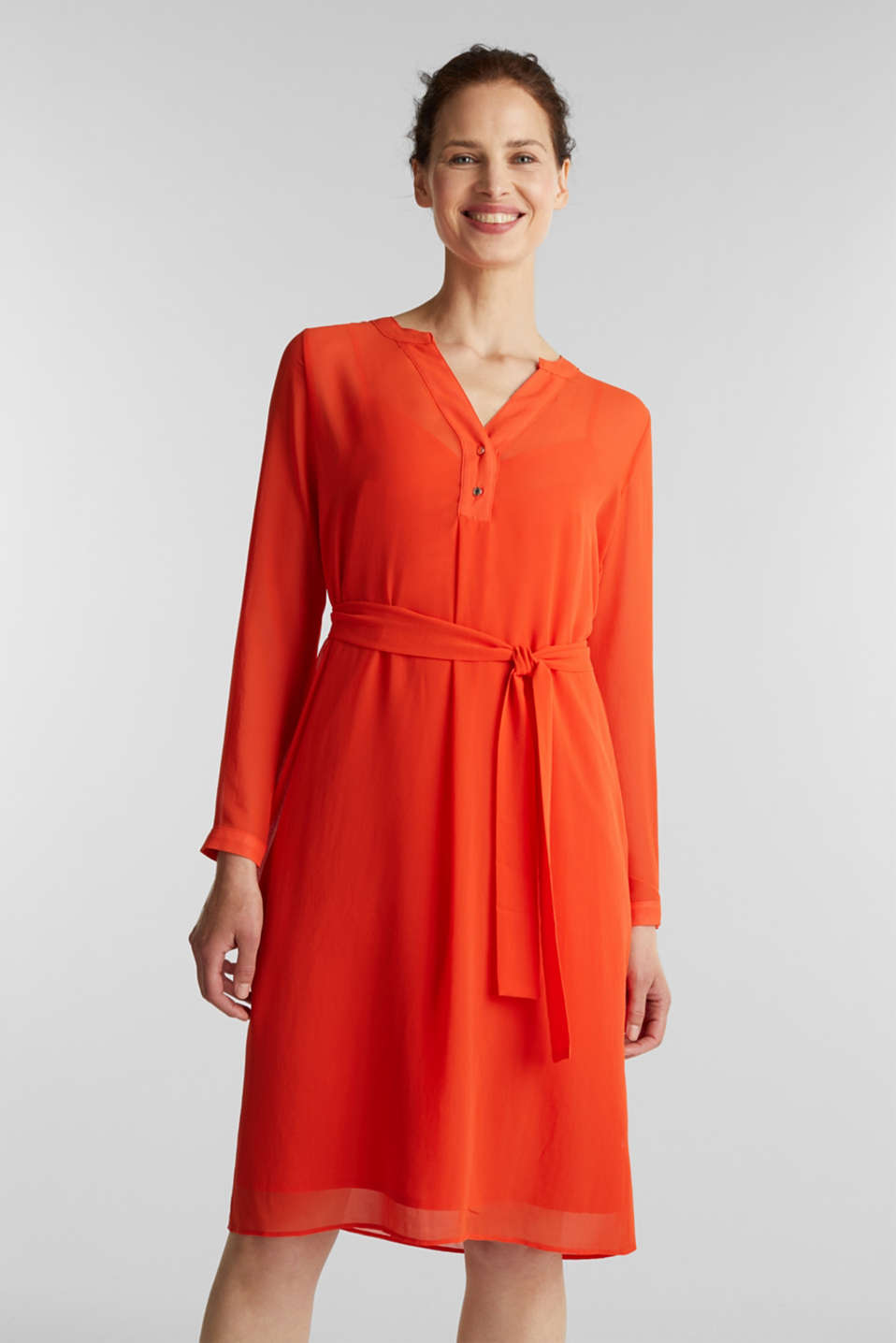 Esprit - Chiffon shirt dress